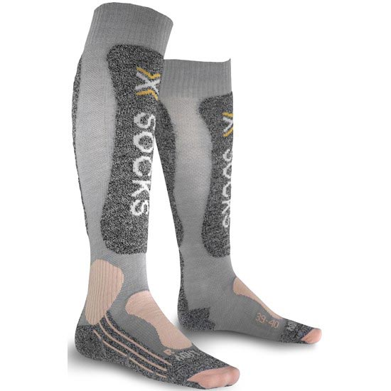 Xsocks Skiing Light W - Gris Claro/Rosa