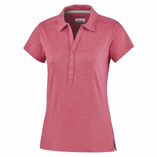 Columbia Shadow Time Polo W - Red Camellia