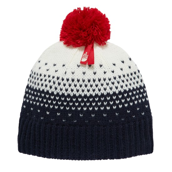 The North Face Pom Pom Beanie Jr - Cosmic Blue