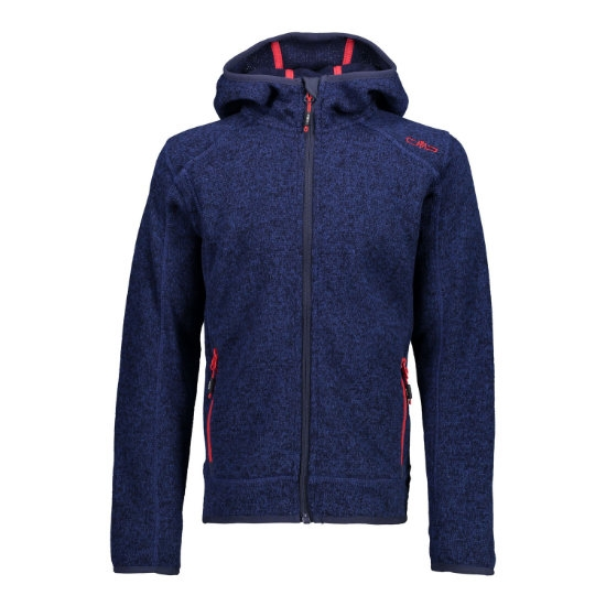 Campagnolo Fleece Fix Hood Boy - Blue/Inchiostro