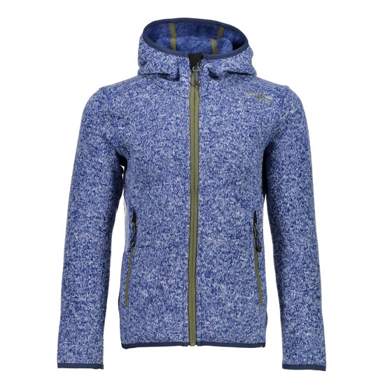 Campagnolo Knitted Fix Hood Girl - Cobalto/Olive Blue