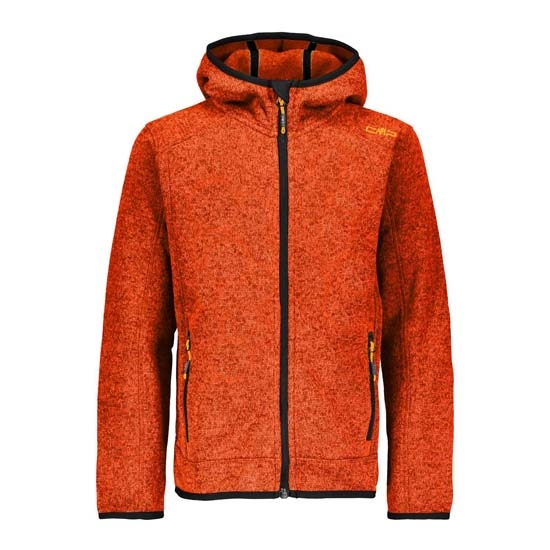 Campagnolo Fix Softshell Hood Boy - Orange/Graffite