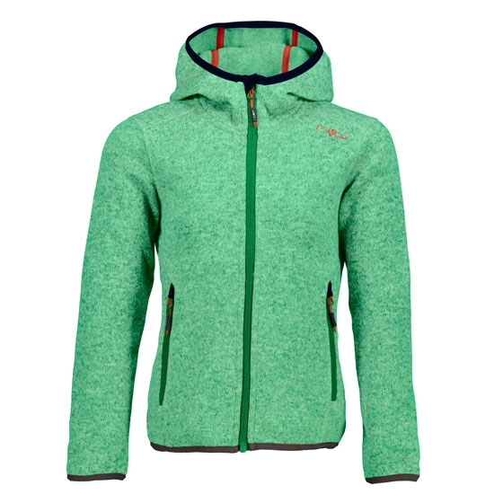 Campagnolo Knitted Fix Hood Jacket Girl - Ice Mint/Emerald