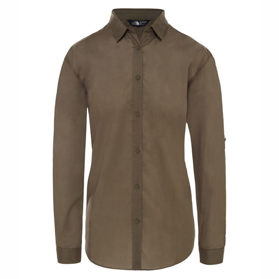The North Face Desercana Top LS W - New Taupe Green