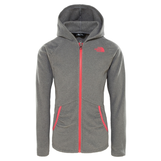 The North Face Mezzaluna Full Zip Hoodie Girl - Tnf Medium Grey