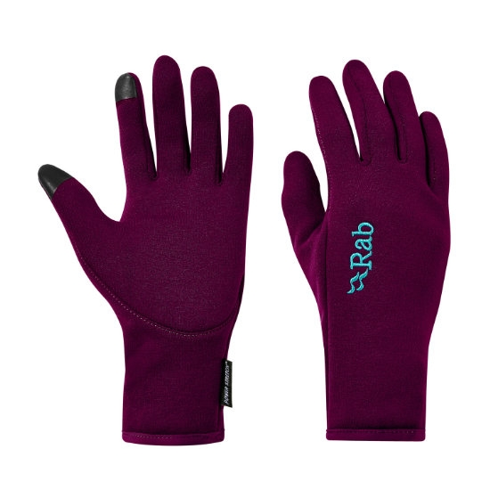 Rab Power Stretch Contact Glove W - Berry