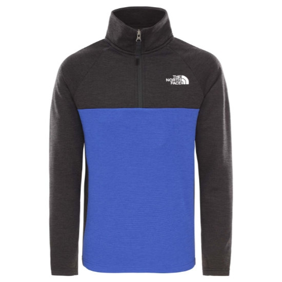 The North Face Reactor ¼ Zip Boy - Blue Heather
