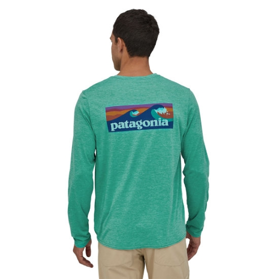 Patagonia Long-Sleeved Capilene® Cool Daily Graphic Shirt - Foto de detalle