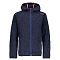 Campagnolo Knitted Fix Hooded Jr - Blue/Nero