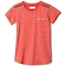 Columbia Tech Trek SS Shirt Girl - Bright Poppy Heather